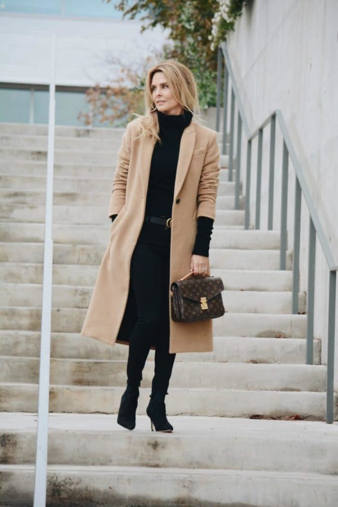 Fall style by Her Fashioned Life - Long Rag & Bone Camel Coat and All Black